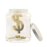 Dollar currency sign in a glass jar Stock Image