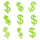 Dollar currency sign render Stock Photography