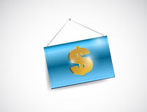 Dollar currency symbol hanging banner Stock Photos