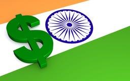 Dollar in India  stock photo