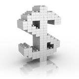 Dollar Currency Symbol Making By Toy Blocks Stock Photography