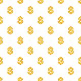 Dollar currency symbol pattern, cartoon style. Dollar currency symbol pattern. Cartoon illustration of dollar currency symbol vector pattern for web Royalty Free Stock Image