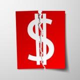 Dollar currency symbol. Royalty Free Stock Photos