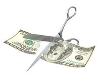 Dollar cut Royalty Free Stock Photo