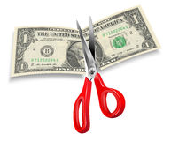 Dollar Cut Royalty Free Stock Photography