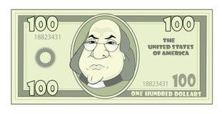 Dollar d'Américain de bande dessinée Illustration Stock