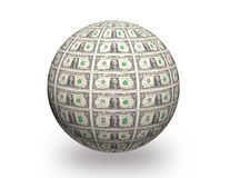 Dollar 3d ball Royalty Free Stock Photos