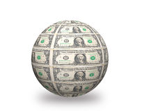 Dollar 3d ball Royalty Free Stock Photography