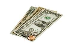 Dollar d'Etats-Unis (USD) sur le blanc Photos libres de droits