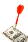 Dollar and dart Stock Photography
