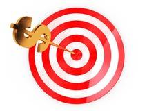 Dollar darts Royalty Free Stock Images