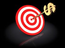 Dollar darts Stock Images