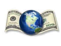 Dollar - das Bargeld der Welt! Stockbild
