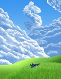 Dollar Daydream. Digital illustration of dollar shape in the clouds Royalty Free Stock Photos