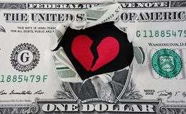 dollar déchiré Photo libre de droits