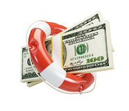 Dollar de bouée de durée Photo stock