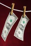 Dollar de deux Américains Photos stock
