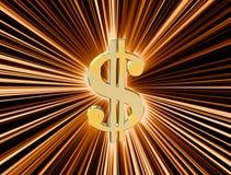 Dollar de devise de symbole Photo libre de droits