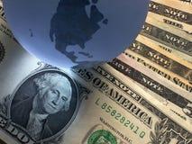 Dollar de globe Photos libres de droits