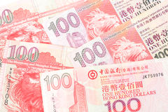 dollar 100 is de nationale valuta van Hong Kong Stock Afbeelding