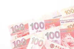 dollar 100 is de nationale valuta van Hong Kong Royalty-vrije Stock Foto's