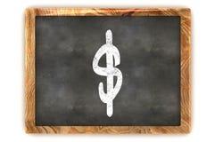Dollar de tableau noir Photographie stock