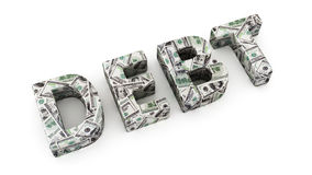 Dollar Debt Stock Photos