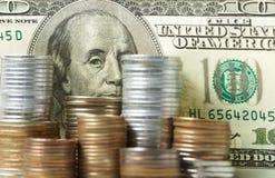Dollar denominations Royalty Free Stock Photo