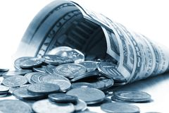 Dollar denominations Stock Image