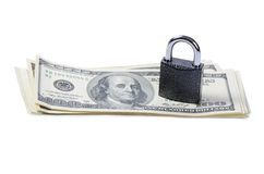 Dollar denominations with the lock Stock Images