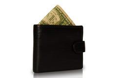 Dollar in der Geldbörse. Stockfotografie