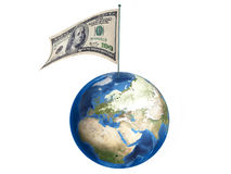 Dollar, der heute die ganze Welt vereinigt Stockbilder
