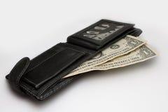 Dollar in der Mappe Stockfotos