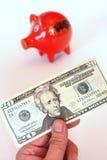 Dollar der Piggy Querneigung Lizenzfreies Stockbild