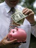 Dollar in der Querneigung Stockfotos