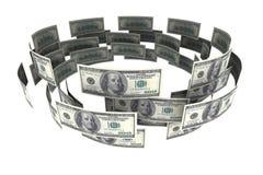 Dollar in der Zirkulation Stockbilder