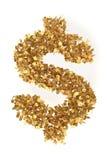 Dollar des dollars présidentiels d'or Images stock