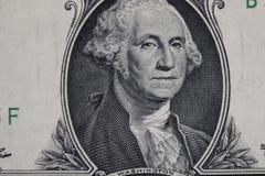 Dollar des Etats-Unis dans le macro tir Images libres de droits