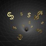 Dollar des schwarzen Loches Stockfotografie