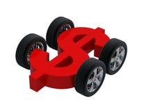 Dollar des Symbols 3d Lizenzfreie Stockfotografie