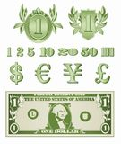Dollar Details Vector Royalty Free Stock Images
