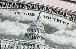 Dollar detalj Arkivbild