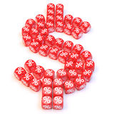Dollar dice Royalty Free Stock Photography