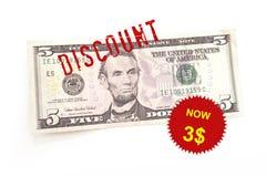 Dollar discount. World financial crisis Royalty Free Stock Photo