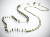 Dollar domino Stock Image