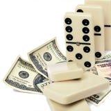 Dollar dominoeffekt Arkivfoto
