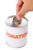 Dollar and Donation Box Royalty Free Stock Photos