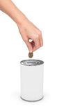 Dollar and Donation Box, concept of savings Stock Photography