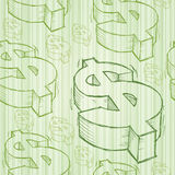 Dollar Doodle Seamless Royalty Free Stock Image