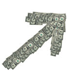 Dollar Down. Profits and dollar value on the increase. Also dollar inflation stock photography